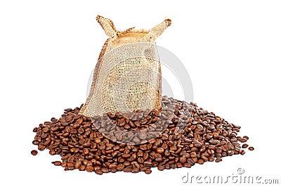 http://thumbs.dreamstime.com/x/chicchi-del-sacco-e-di-caff%C3%A8-della-tela-da-imballaggio-1732980.jpg