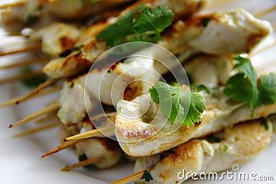 Chiche-kebab de poulet