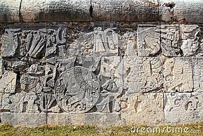 Chichen Itza hieroglyphics mayan pok-ta-pok