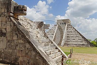 Chichen Itza Kukulcan Temple and Venus Platform