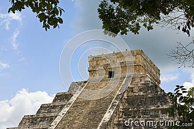 Chichen Itza Pyramid Detail