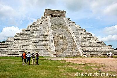 Chichen itzaen mexico Redaktionell Arkivbild