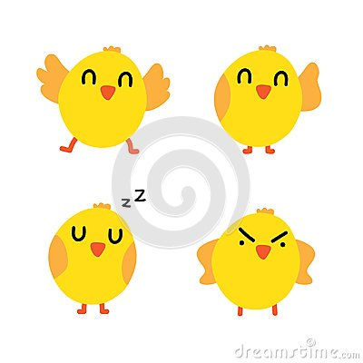 Chick character design Vector Illustration