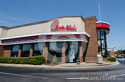 Chick-fil-A Restaurant Editorial Photo - Image: 44341191