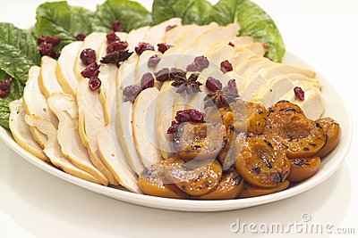 Chicken and apricot platter