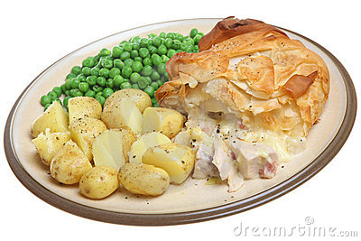 Chicken & Bacon Pie with Filo Pastry