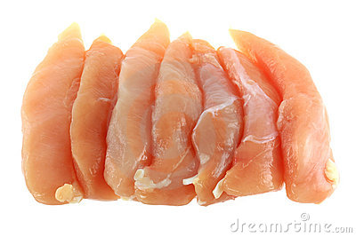Chicken Breast Fillet isolated on white