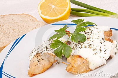Chicken breast with sauce