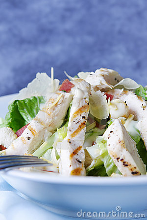 Free Chicken Caesar Salad Stock Photo - 4709070