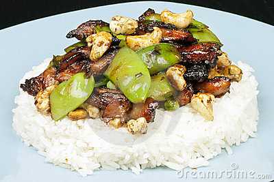 Chicken Cashew SnowPea On Plate