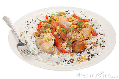 Chicken Casserole & Rice