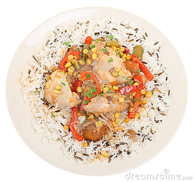 Chicken Casserole and Rice