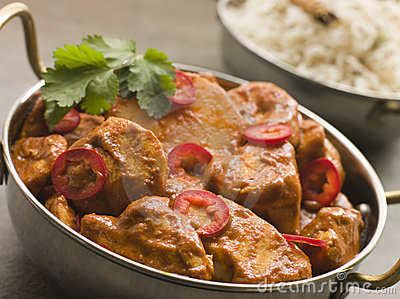 Chicken Chili Tikka Masala with Fragrant Basmati R