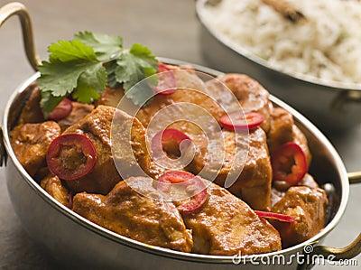 Chicken Chili Tikka Masala with Fragrant Basmati R