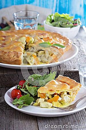 Free Chicken Curry Savory Pie Stock Photos - 50388613