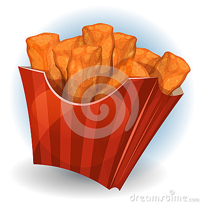 Free Chicken Dips Inside Red Package Royalty Free Stock Image - 63552316