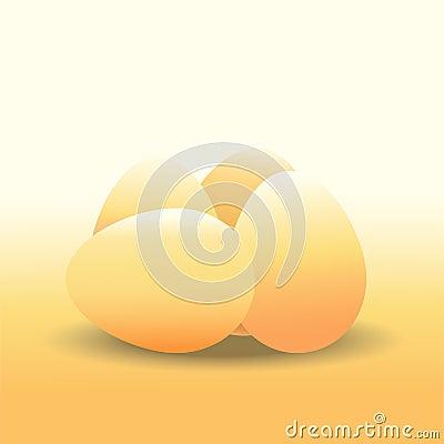 chicken egg Vector Illustration