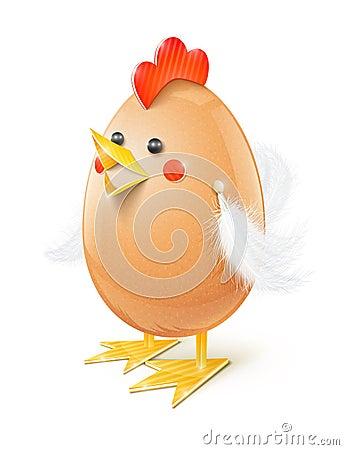 Chicken egg handicraft