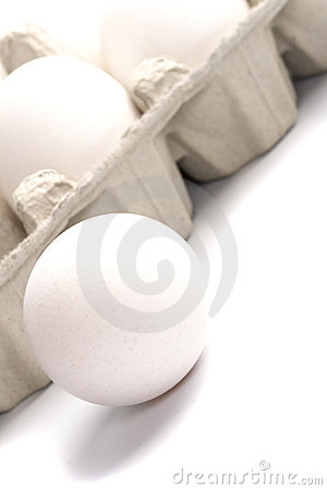 Chicken eggs in packing