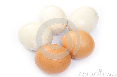 Chicken Eggs and Salted Duck Eggs