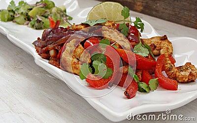 Chicken Fajitas with Lime Salsa