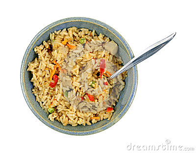Chicken Fried Rice Bowl Spoon