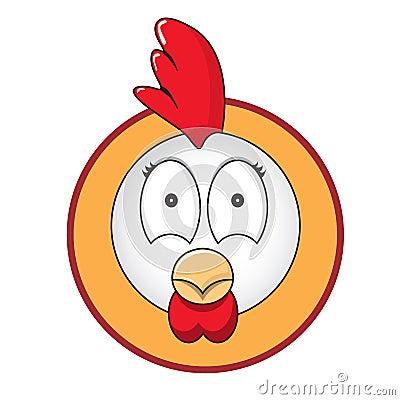 Chicken head button
