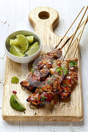 Chicken Kebabs with Lime and Chili
