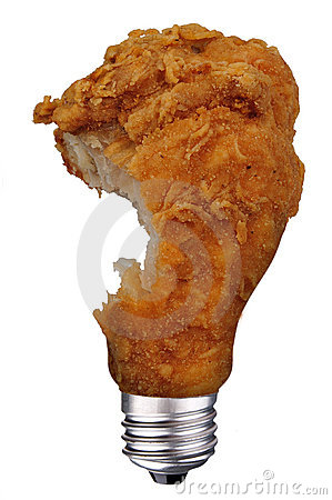 Chicken leg bulb with bite