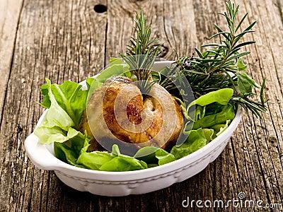 Chicken leg with  salad