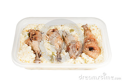 Chicken legs with rice