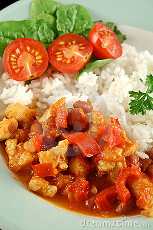 Chicken And Lentil Stew With Rice
