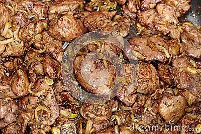Chicken liver roasted