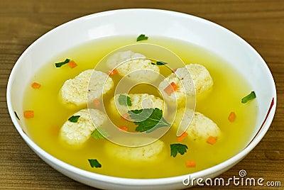 Chicken Matzah Ball Soup Stock Photos - Image: 13243553