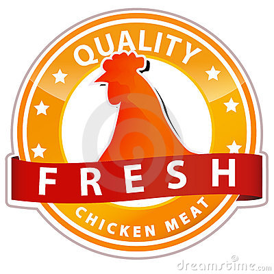 Chicken meat sign