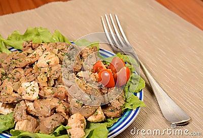 Chicken mushroom dish
