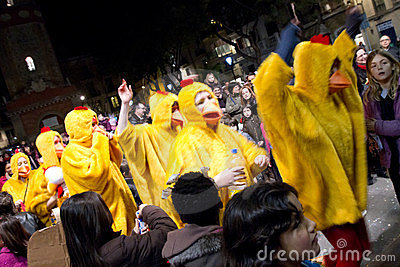 Chicken Parade Editorial Stock Image