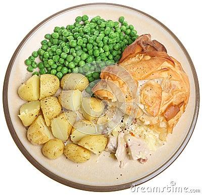 [Recipe] Grilled Chicken and New Potatoes - Gà nướng khoai tây Chicken-pie-new-potatoes-thumb15508799