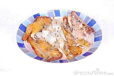 Chicken pieces roasted