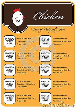 Free Chicken Restaurant Menu Royalty Free Stock Photos - 17982288