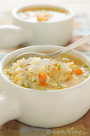 Free Chicken Rice Soup Stock Images - 23891124