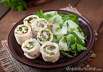 Vegetable Salad Rolls. Stock PhotoImage68681598