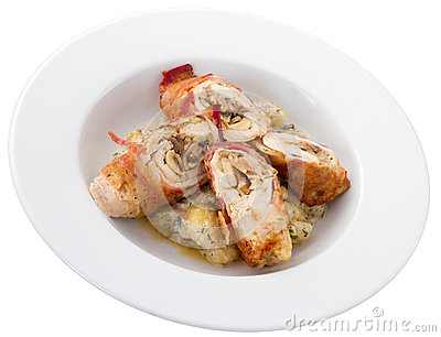 Chicken Roulade Plate