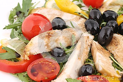 Chicken salad close up.