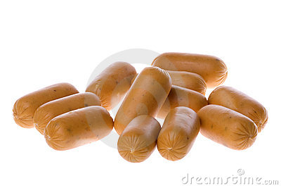 Chicken Sausages Isolated