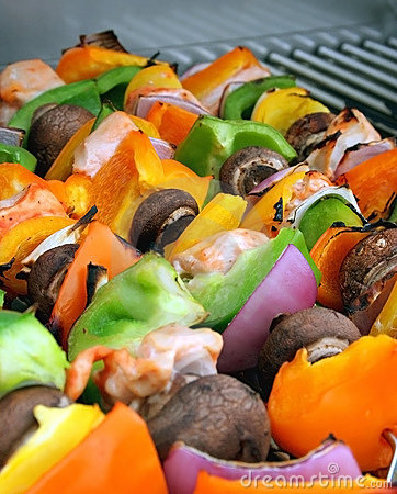 Free Chicken Shish Kebobs Stock Photography - 717262
