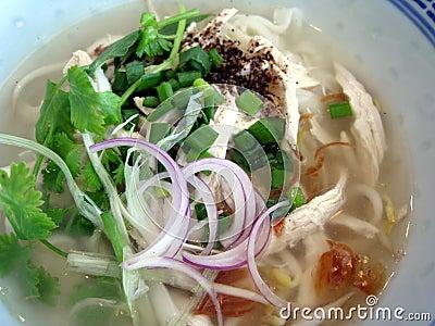 Chicken soup noodle