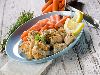 Chicken  stew with carrots
