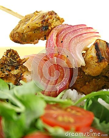 Free Chicken Tandoori Kebabs Stock Image - 5267991