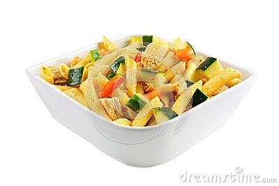 Chicken and veggie pasta salad